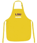 LSU Tigers Grandpa Apron Yellow - MADE in the USA!