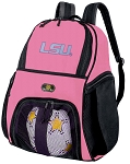 Girls LADIES LSU Soccer Backpack or LSU Tigers Volleyball Bag