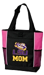 LSU Mom Tote Bag Pink