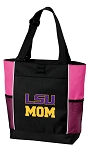 LSU Tigers Mom Tote Bag Pink