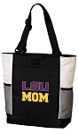 LSU Tigers Mom Tote Bag White Accents