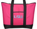 Deluxe Pink LSU Tote Bag