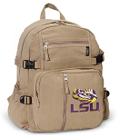LSU Canvas Backpack Tan