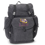 LSU LARGE Canvas Backpack Black