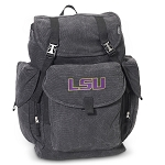 LSU Tigers LARGE Canvas Backpack Black