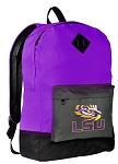 LSU Backpack CLASSIC STYLE LSU Backpacks Purple