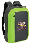 LSU SLEEK Laptop Backpack Green