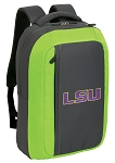 LSU Tigers SLEEK Laptop Backpack Green