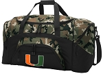 Official University of Miami Camo Duffel Bags