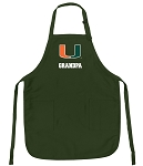 University of Miami Grandpa Apron Green
