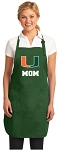 University of Miami Mom Apron Green
