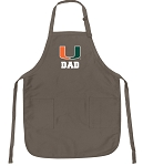University of Miami Dad Deluxe Apron Khaki