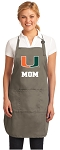 University of Miami Mom Deluxe Apron Khaki