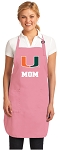 University of Miami Mom Apron Pink - MADE in the USA!