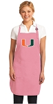 Deluxe University of Miami Apron Pink - MADE in the USA!
