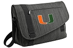 University of Miami Messenger Laptop Bag Stylish Charcoal