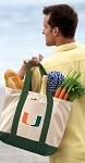 University of Miami Tote Bags Green