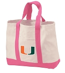 University of Miami Tote Bags Pink