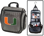 University of Miami Toiletry Bag or Shaving Kit Gray