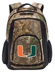 University of Miami RealTree Camo Backpack