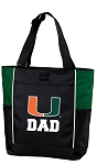 University of Miami Dad Tote Bag Hunter Green