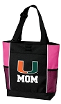 University of Miami Mom Tote Bag Pink
