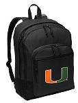 University of Miami Backpack - Classic Style