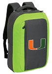 University of Miami SLEEK Laptop Backpack Green