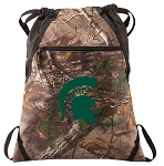 Michigan State RealTree Camo Cinch Pack