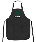 Official Michigan State Grandpa Apron Black