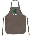Official Michigan State University Dad Apron Tan