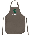 Official Michigan State University Grandma Apron Tan