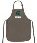 Official Michigan State University Grandpa Apron Tan