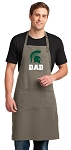 Michigan State Dad Large Apron Khaki