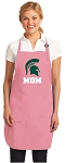 Deluxe Michigan State Mom Apron Pink - MADE in the USA!