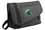 Michigan State Messenger Laptop Bag Stylish Charcoal