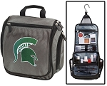 Michigan State University Toiletry Bag or Shaving Kit Gray