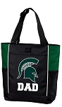 Michigan State Dad Tote Bag Hunter Green