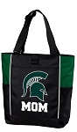 Michigan State Mom Tote Bag Hunter Green