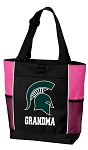 Michigan State Grandma Tote Bag Pink