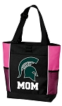Michigan State Mom Tote Bag Pink