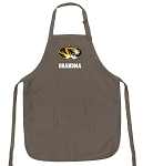 University of Missouri Grandma Deluxe Apron Khaki