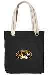 University of Missouri Tote Bag RICH COTTON CANVAS Black