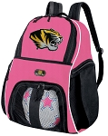 Girls University of Missouri Soccer Backpack or Mizzou Volleyball Bag