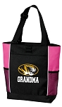 University of Missouri Grandma Tote Bag Pink