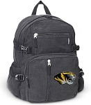 University of Missouri Canvas Backpack Black