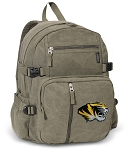 Mizzou Canvas Backpack Olive