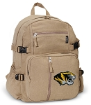Mizzou Canvas Backpack Tan