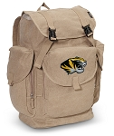 Mizzou LARGE Canvas Backpack Tan