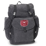 Missouri State Bears LARGE Canvas Backpack Black